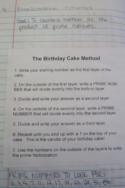 Birthday Cake Method For Prime Factorization