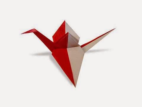 Hướng dẫn cách gấp hạc giấy hai màu khác nhau đơn giản - Xếp hình Origami với Video clip - How to make a crane