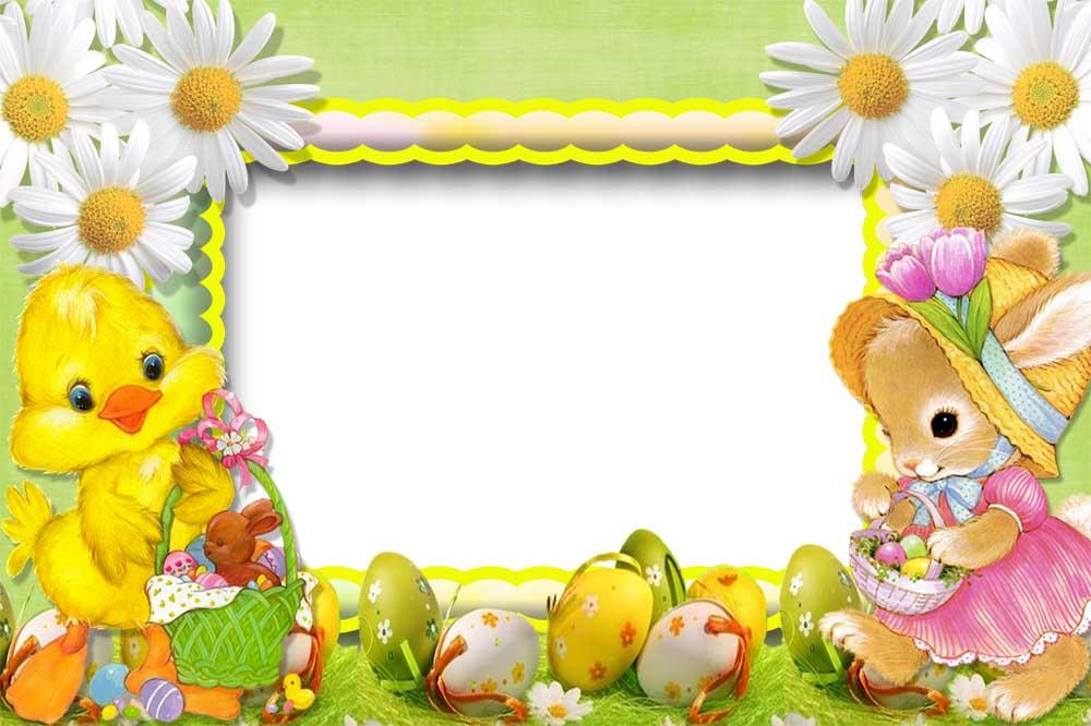 Happy Easter frame | elxa