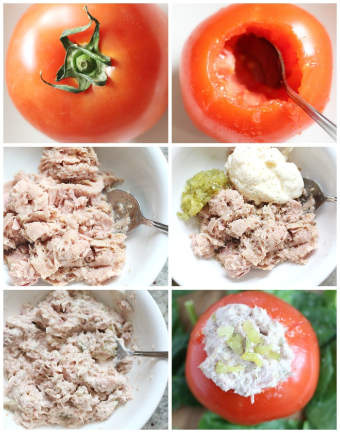 Tuna Salad Stuffed Tomato Recipe