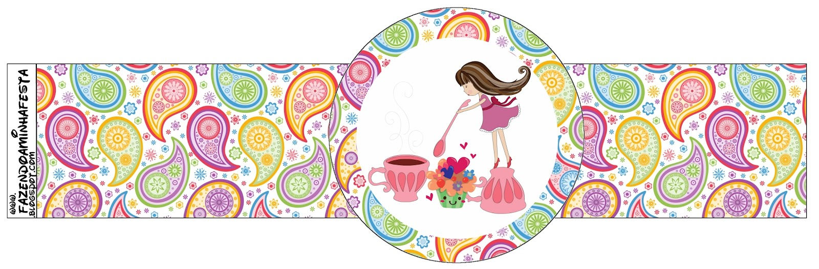 Girls Tea Party Free Printable Napkin Rings