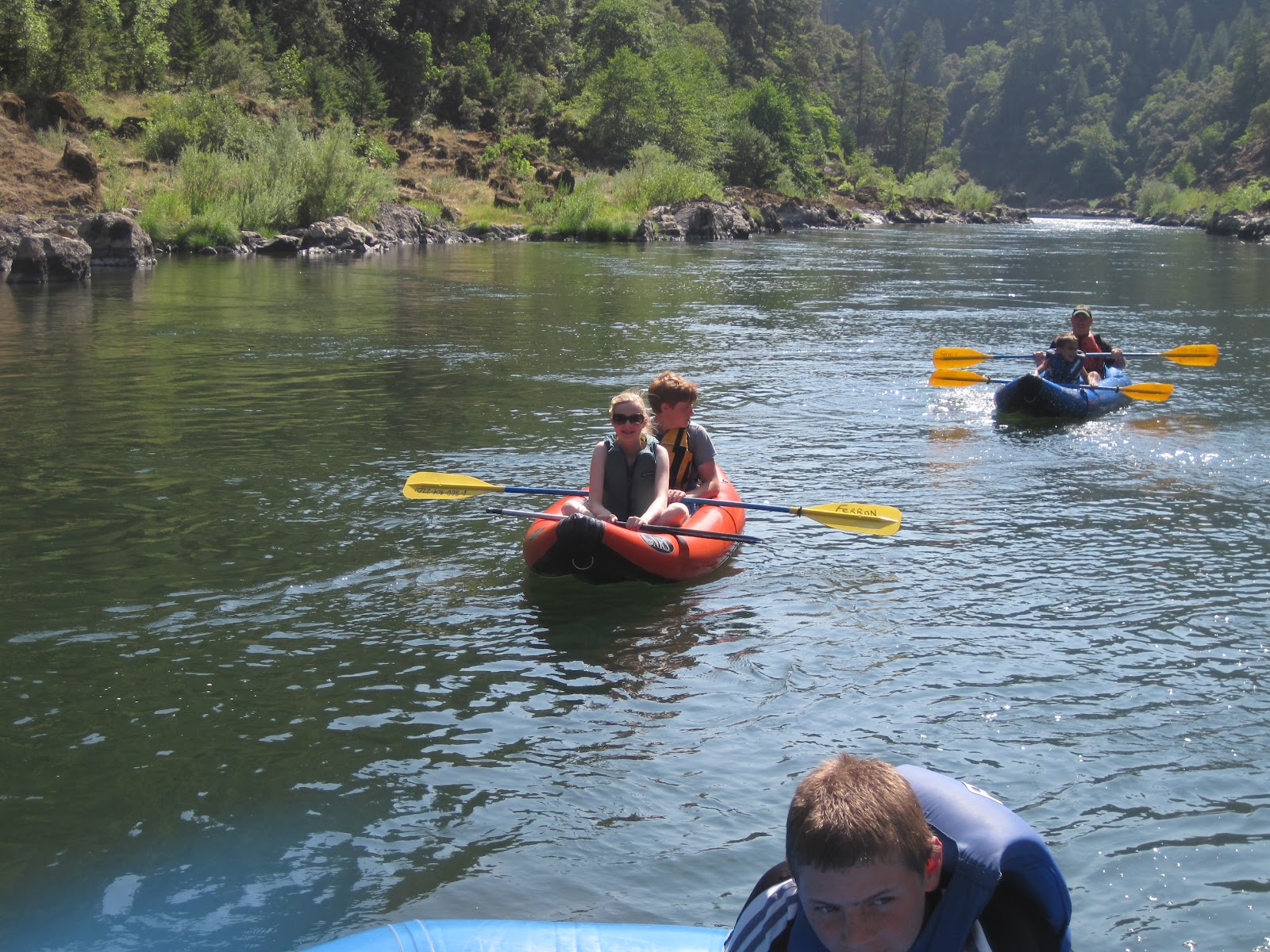 Rogue River Rafting: Rogue River raft trip on August 14, 2012