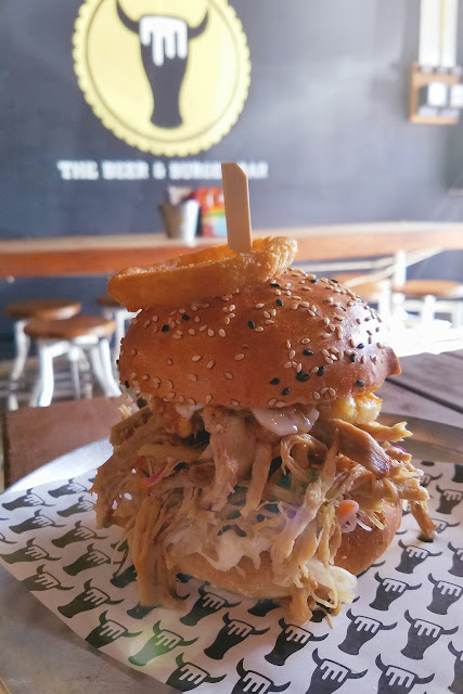 The Beer & Burger Bar, Richmond, pork roast burger