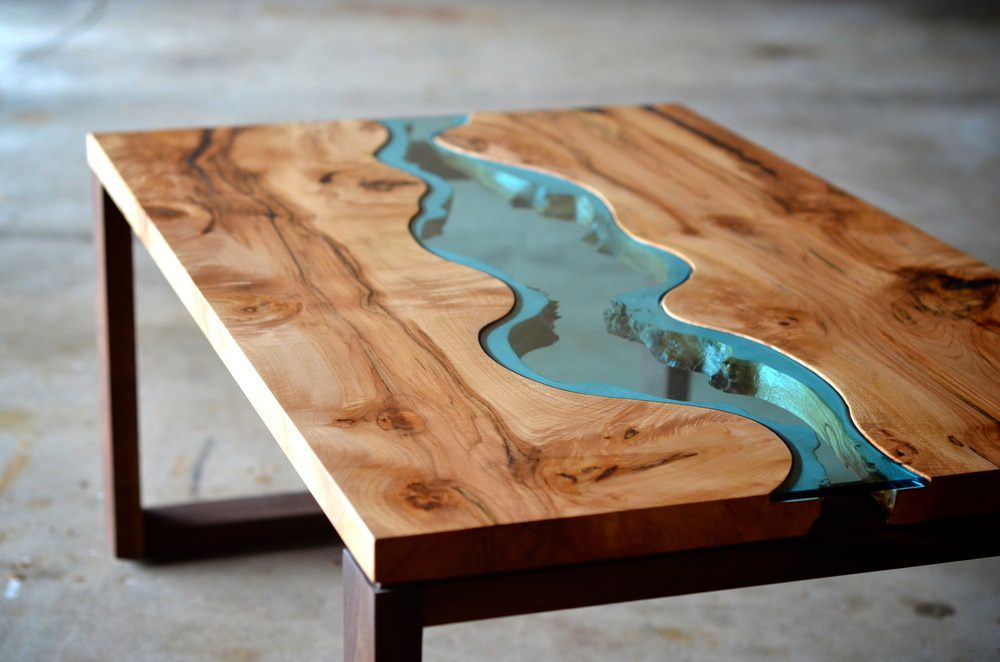 Chronic Arts Wood Glass Coffee Table Made To Represent The