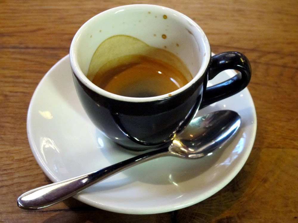 Espresso at Tramontana in Shoreditch