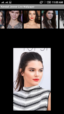 Kendall Jenner 3D live Wallpaper For Android Mobile Phone