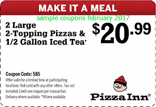Pizza Inn coupons february