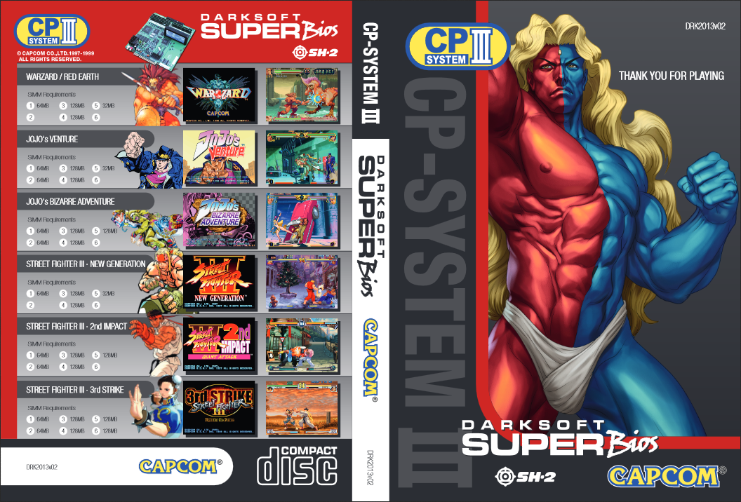 Breaking CPS3: NEW! CD set of CPS3 for Standard SH2 cartridges