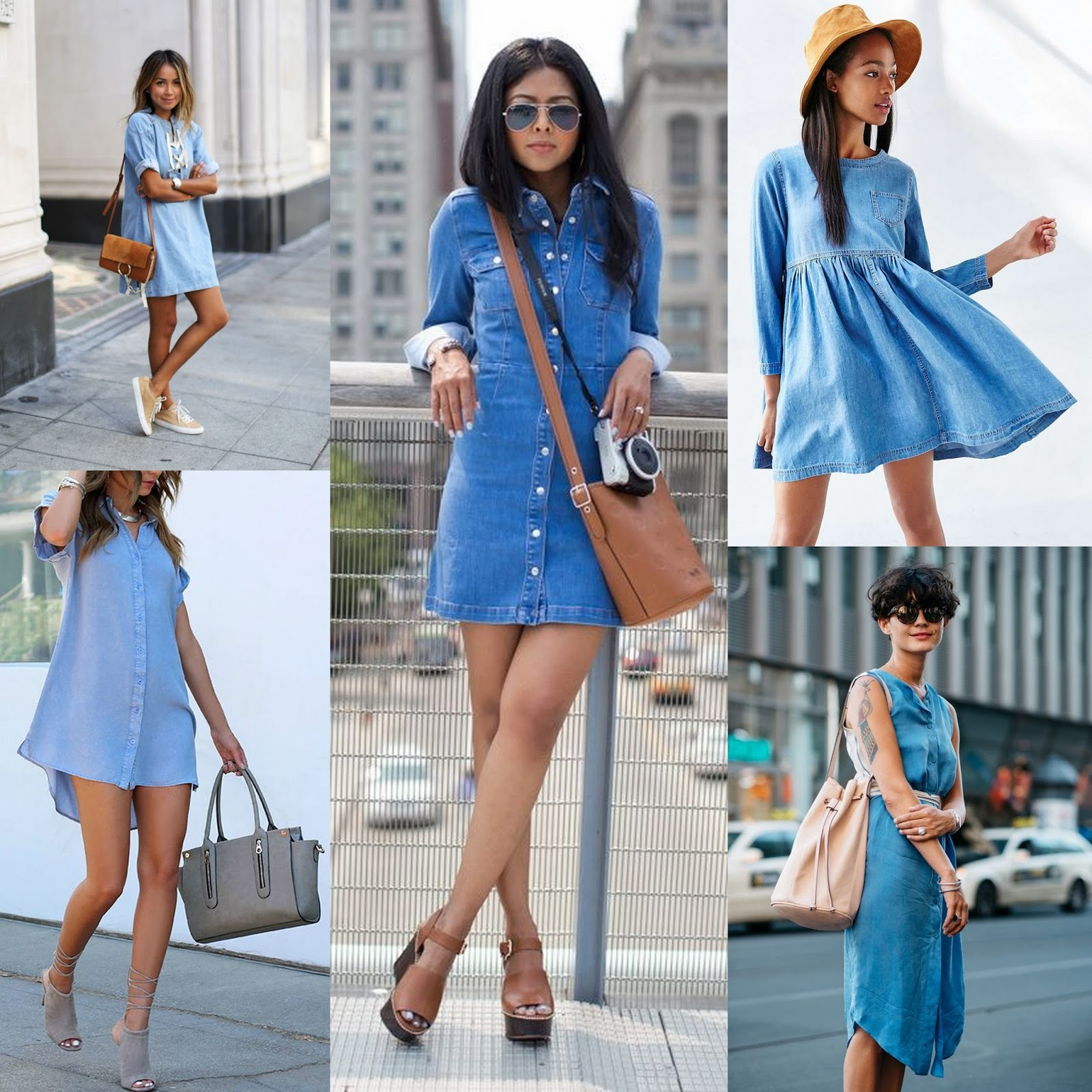 Denim dress: with what to wear. Recommendations stylists and interesting combinations 75