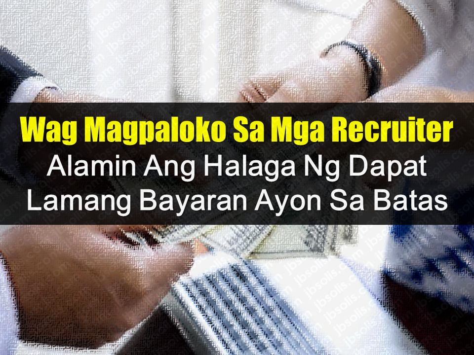 """Due to lack of job opportunities in their country, the existing age limit for job hiring and inadequate salary, Filipinos resort to working abroad. In order to be deployed, they would seek the help of recruitment agencies and believe and follow what the recruiters would tell them to do. Many agencies make a good fortune by """"helping"""" people land on their desired job. Some job applicants even do desperate things to produce the needed money just to make sure that they will get that overseas job. Some even sell their valuables such as parcels of land, cars, and they even find someone to lend them cash to the extent that they would be neck deep in debt. Little that they know that some illegal and even legal recruitment agencies take advantage of them by asking too much money without even issuing a receipt. POEA strongly warn all overseas job applicants to be vigilant and smart enough not to fall victim to these schemes.  Advertisement           Sponsored Links             Many recruitment agencies, including those which are duly accredited and licensed by the POEA, collects fees and not issuing the appropriate receipts to the applicants.   (I can attest to that because even my recruitment agency collected placement fee before my deployment several years ago but instead of giving me a receipt, which I asked them to give me, they gave a small piece of paper where the amount was written saying that it was a payment for my expenses bound to my country of destination. It was my first time working overseas so I hardly know about anything about it.)      Knowing the right prices could save you from abusive recruiters. In the Pre-Employment Orientation Seminar (PEOS) program of POEA where OFWs were informed about being an overseas worker, some module talks about how much you should be paying.  Please refer to the tables below for reference.      Do not be fooled by the recruiters. Should you need anything to pay, do not refrain from demanding a receipt. If your agency still insi"""