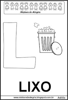 Alfabeto cartaz letra L