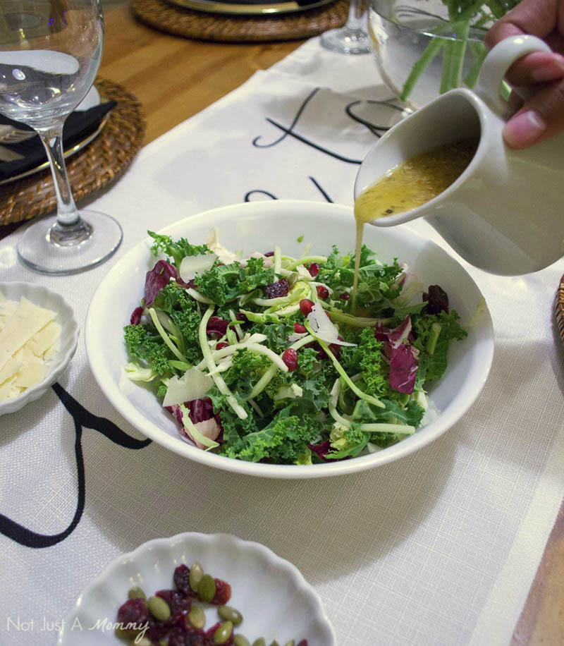 How To Make Your Everyday Dinner Special; a winter salad is a perfect pasta accompaniment