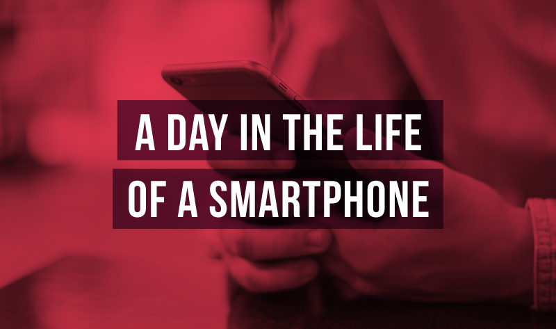 A Day in the Life of A Smartphone - infographic