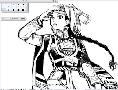 Close up dibujo