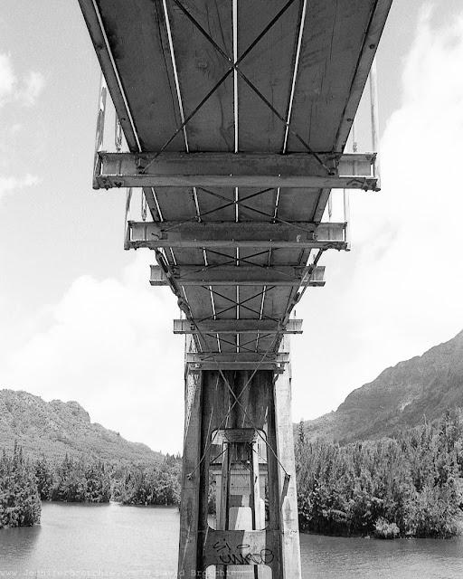Interesting black and white film photo