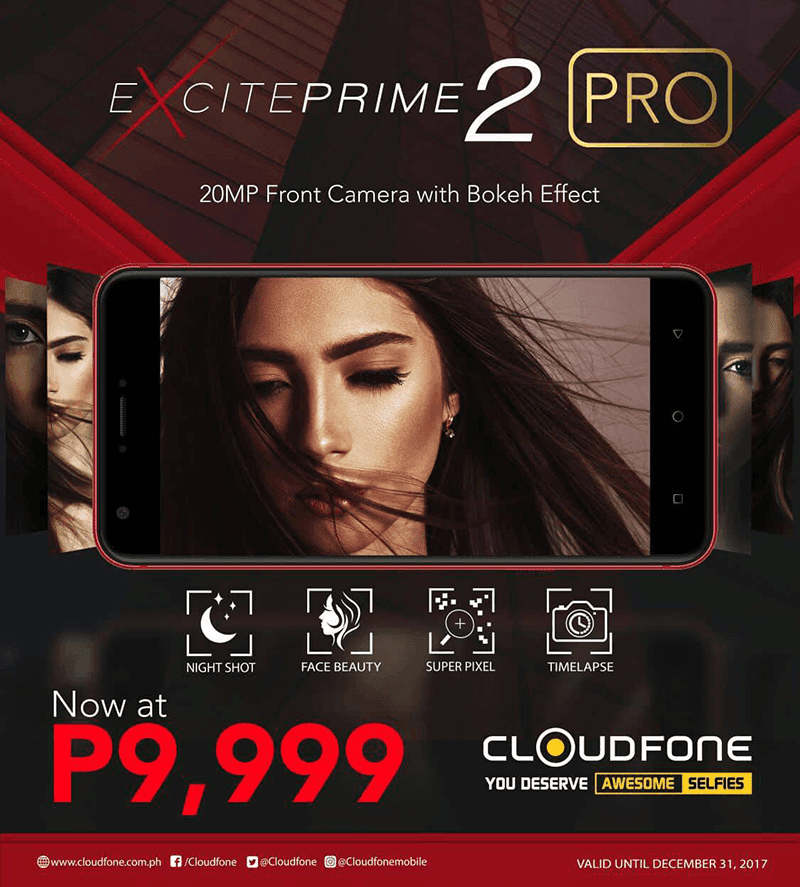 Cloudfone Excite Prime 2 Pro is back to its pre-order price of PHP 9999!