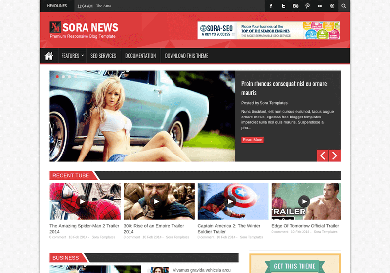 SoraNews Blogger Template