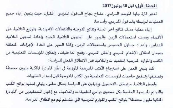 الأساتذة مطالبون بجدول الحصص و استعمالات الزمن و تسجيل التلاميذ قبل 30 يونيو حسب المقرر الجديد
