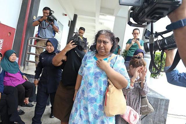 S Ambika, majikan TKI Adelina Sau yang tewas 11 Februari, ketika menghadiri persidangan di Pengadilan Bukit Mertajam, Malaysia