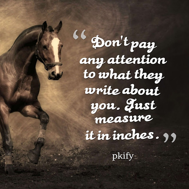 Don't Pay Any Attention to What They Write About You Just Measure It in Inches Famous Quotes