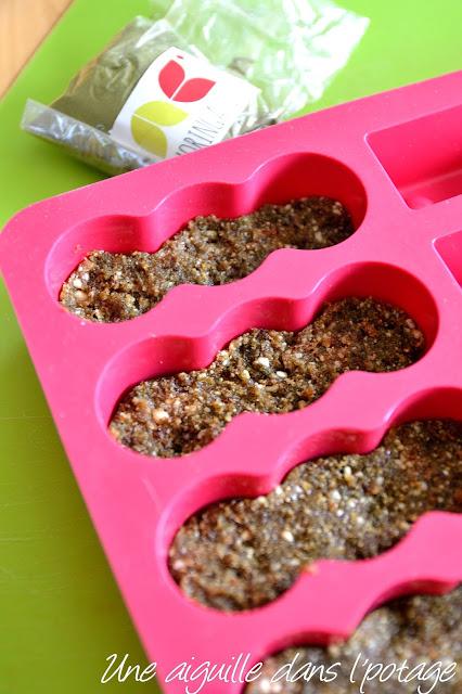 Barre énergétique au moringa dattes noix de cajou raw food