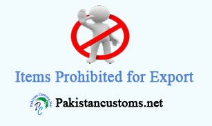 Items Banned for Exports from Pakistan.