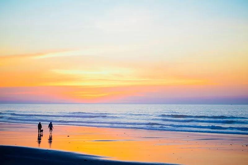 beach walking caminar playa