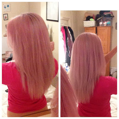 bleach, clynol, crazy colour, directions, hair dye, Haircare, hairdressers, oVertone, Pastel, pastel hair, Pink, pink hair, silver shampoo
