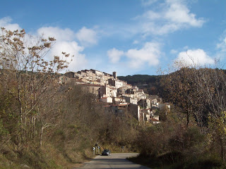 The village of Pozzaglia Sabina in Lazio, where Agostina was born and where her remains are buried