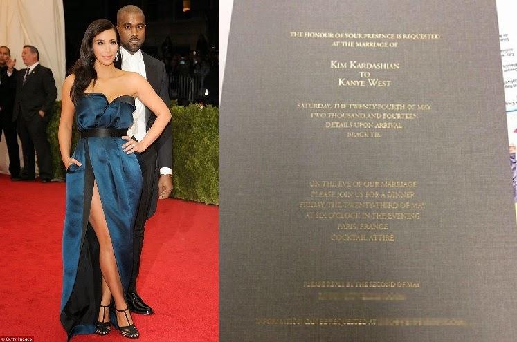 Kim Kardashian Wedding Invitation: This Is NgN's Blog: Photo: Kim Kardashian & Kanye West's