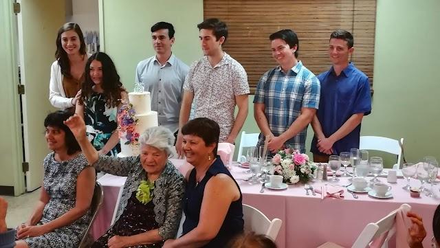 Piroska Castillo 95-ik születésnapi ünnepsége