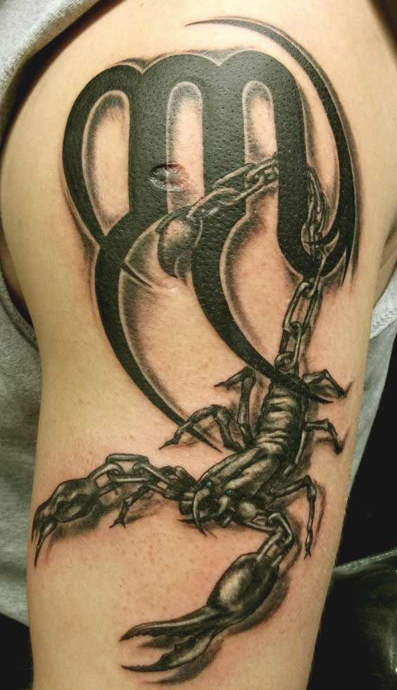 Feminine Modern Minimalist Scorpio Constellation Tattoo