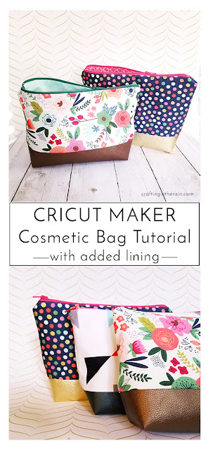 how to assemble the cricut cosmetic bag