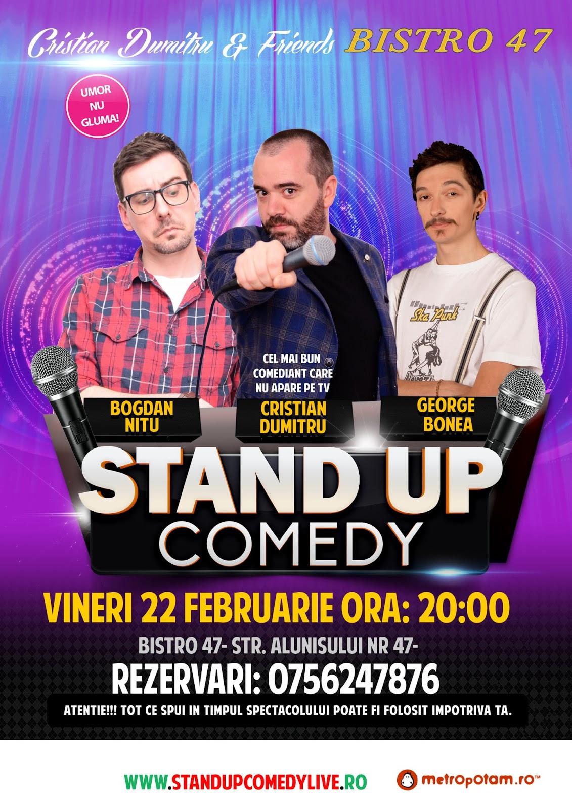 Stand-Up Comedy Vineri Seara in Bucuresti