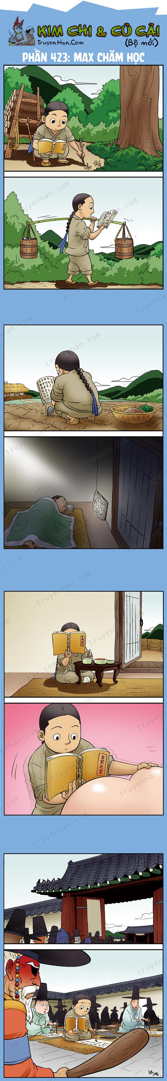 Kim Chi & Củ Cải (bộ mới) phần 423: Max chăm học