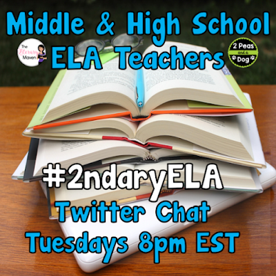 Welcome Back to season three of the #2ndaryELA Tuesday night Twitter chats. Brynn Allison from The Literary Maven and Kristy Avis from 2 Peas and a Dog have teamed up to bring you spectacular professional development every Tuesday night from 8:00pm - 8:30pm (Eastern Standard Time).