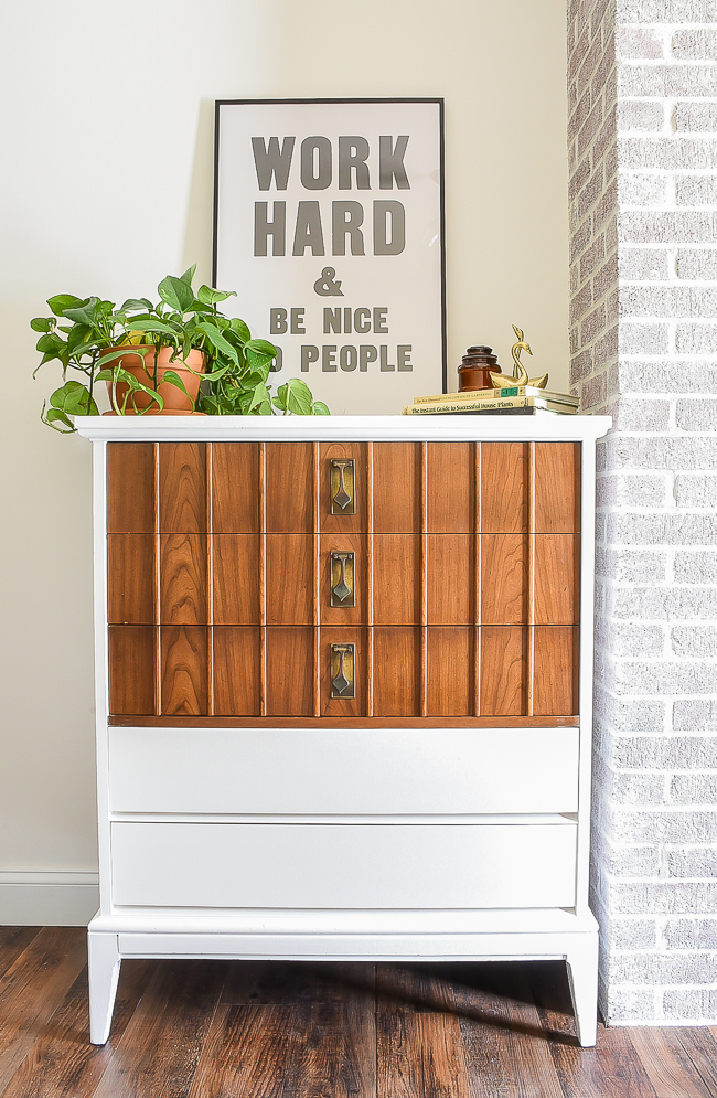MCM Dixie two tone dresser makeover