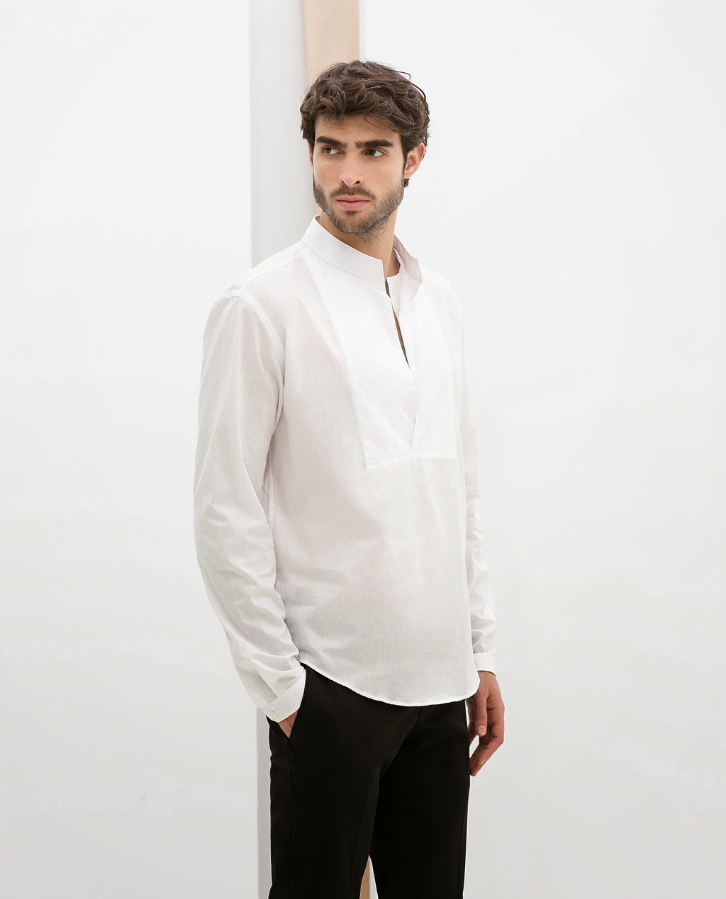 Cultures Hommes Zara Chemise Col Mao