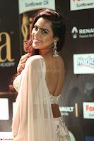 Prajna Actress in backless Cream Choli and transparent saree at IIFA Utsavam Awards 2017 0103.JPG