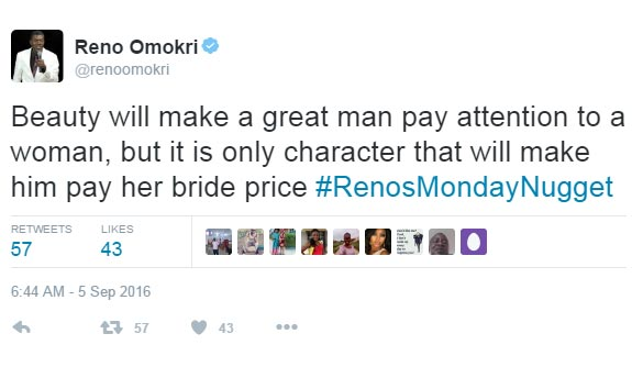 This is why some pretty ladies remain unmarried, according to Reno Omokri