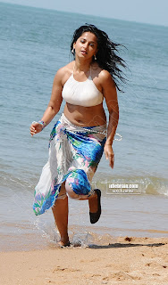 Anushka Shetty in White Bikini Top