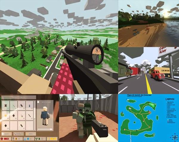unturned jogo de survival co zombies parecido com minecraft