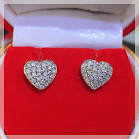 Jual Anting Emas Berlian Model Love