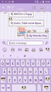 BBM Mod Girl n Puppy V3.1.0.13 Apk