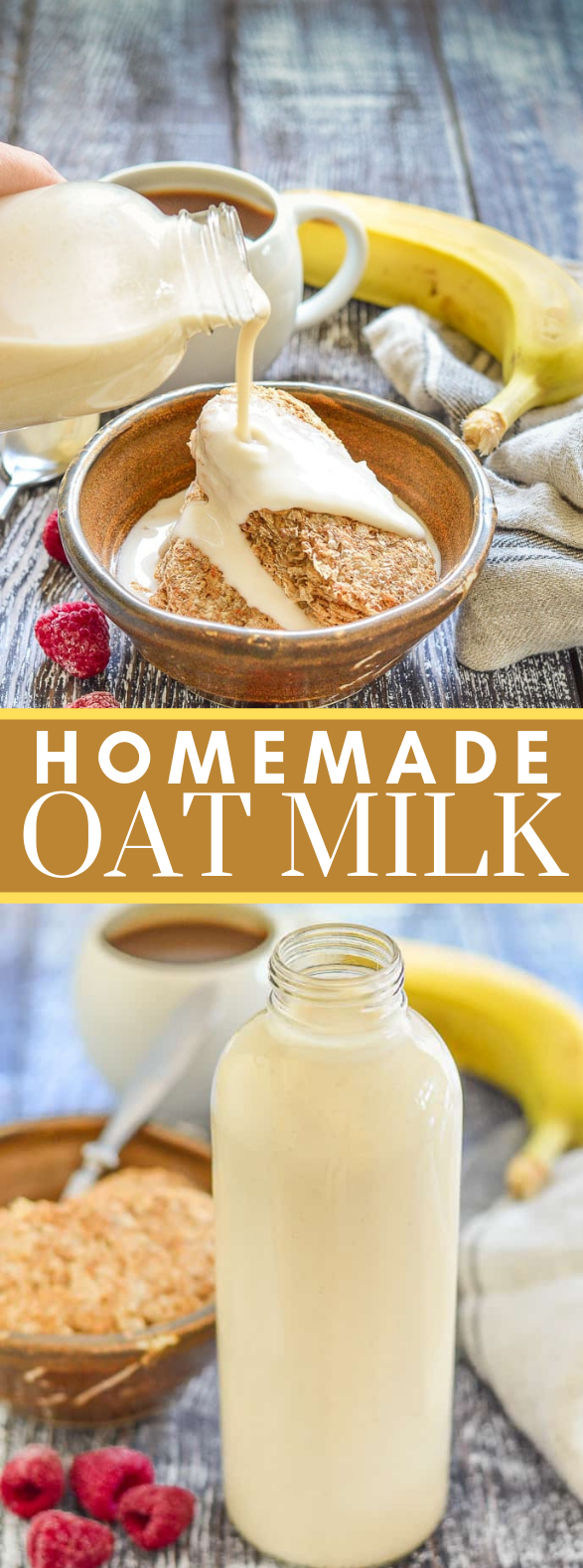 Homemade Oat Milk #glutenfree #vegan