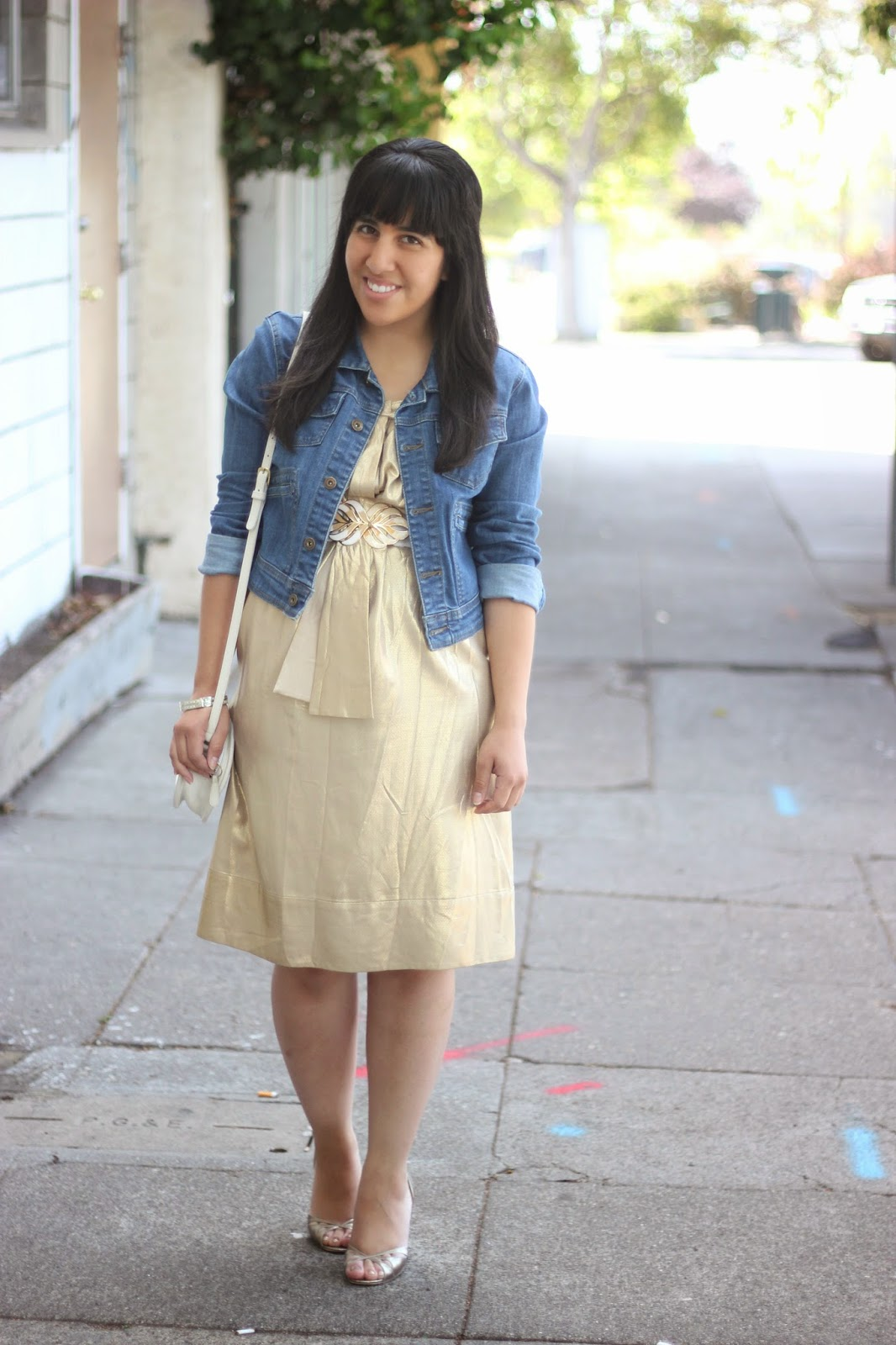 Denim and Summer Dress