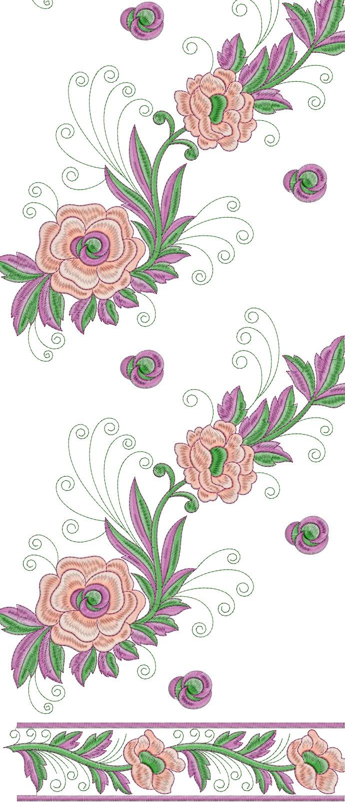 Embdesigntube Punjabi Dupatta Embroidery Design Free Download