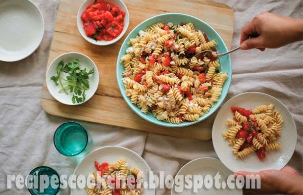 Picnic pasta salad with roasted tomato and tuna - Recipes ...
