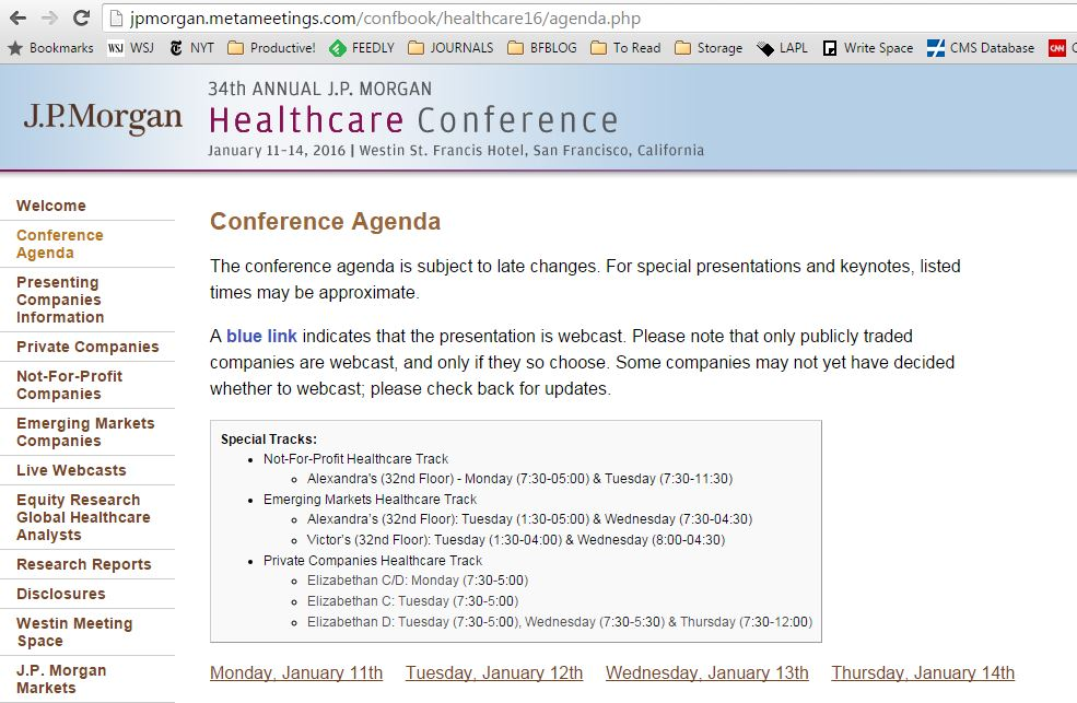 Discoveries in Health Policy: January 2016: 34th Annual JP