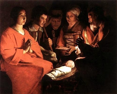 Image result for georges de la tour adoration of the shepherds